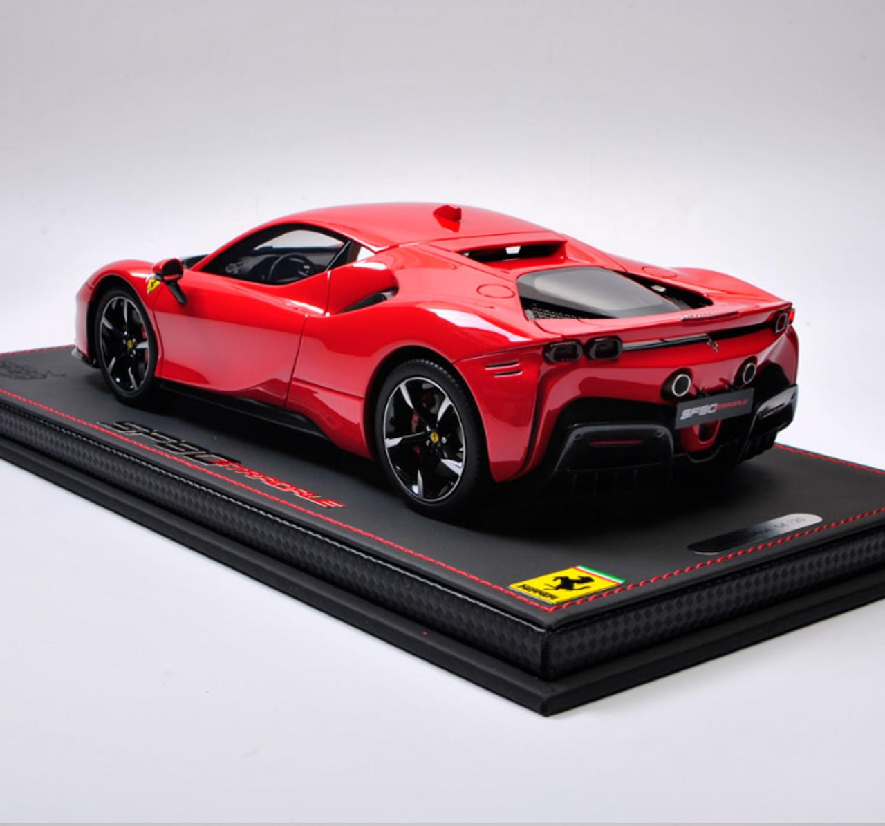 1 18 Bbr Ferrari Sf90 Stradale Red Resin Car Model Limited 20 Pieces Livecarmodel Com