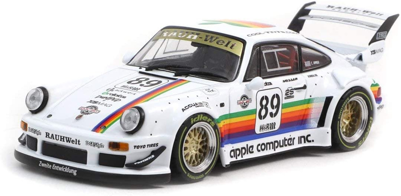 "PORSCHE RWB 930 #89 /""APPLE/"" 1//43 DIECAST MODEL CAR BY TARMAC WORKS T43-013-AP"