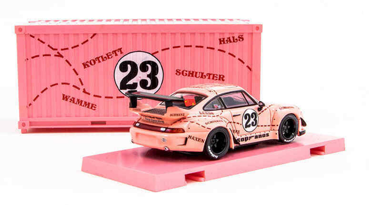 Tarmac Works 1 64 Porsche 993 Rwb Sopranos 23 Pink With Container Diecast Car Model Livecarmodel Com
