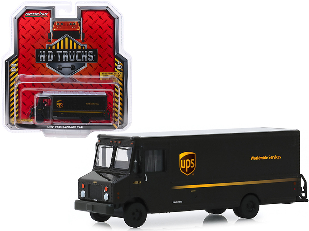 """2019 Package Car """"UPS"""" (United Parcel Service) """"H.D. Trucks"""" Series 17 1/64 Diecast Model by Greenlight"""