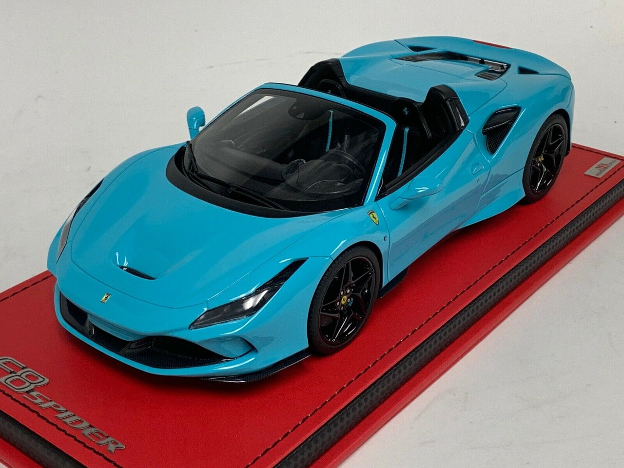 1 18 Mr Collections Ferrari F8 Tributo Spider Baby Blue Resin Car Model Limited Livecarmodel Com