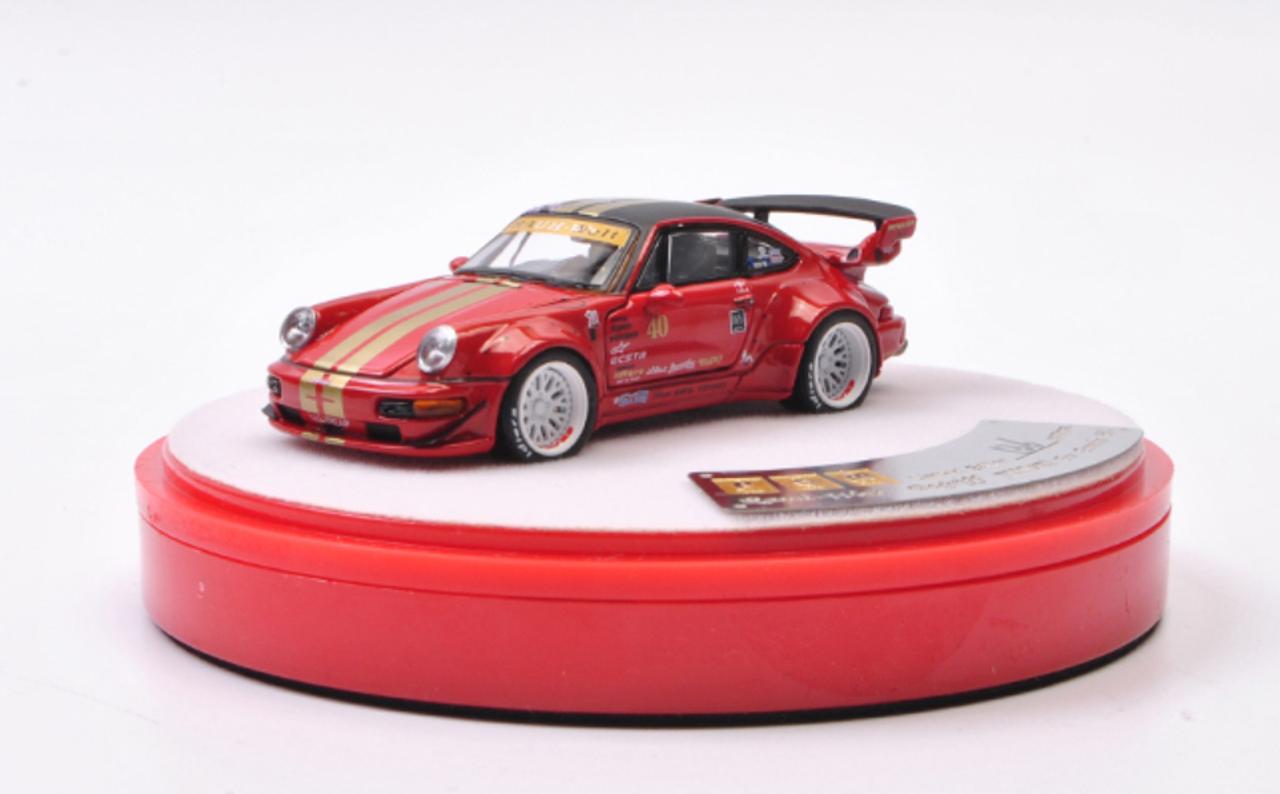 1 64 Pgm Porsche 911 Rwb 964 Red Luxury Packge Diecast Car Model Livecarmodel Com