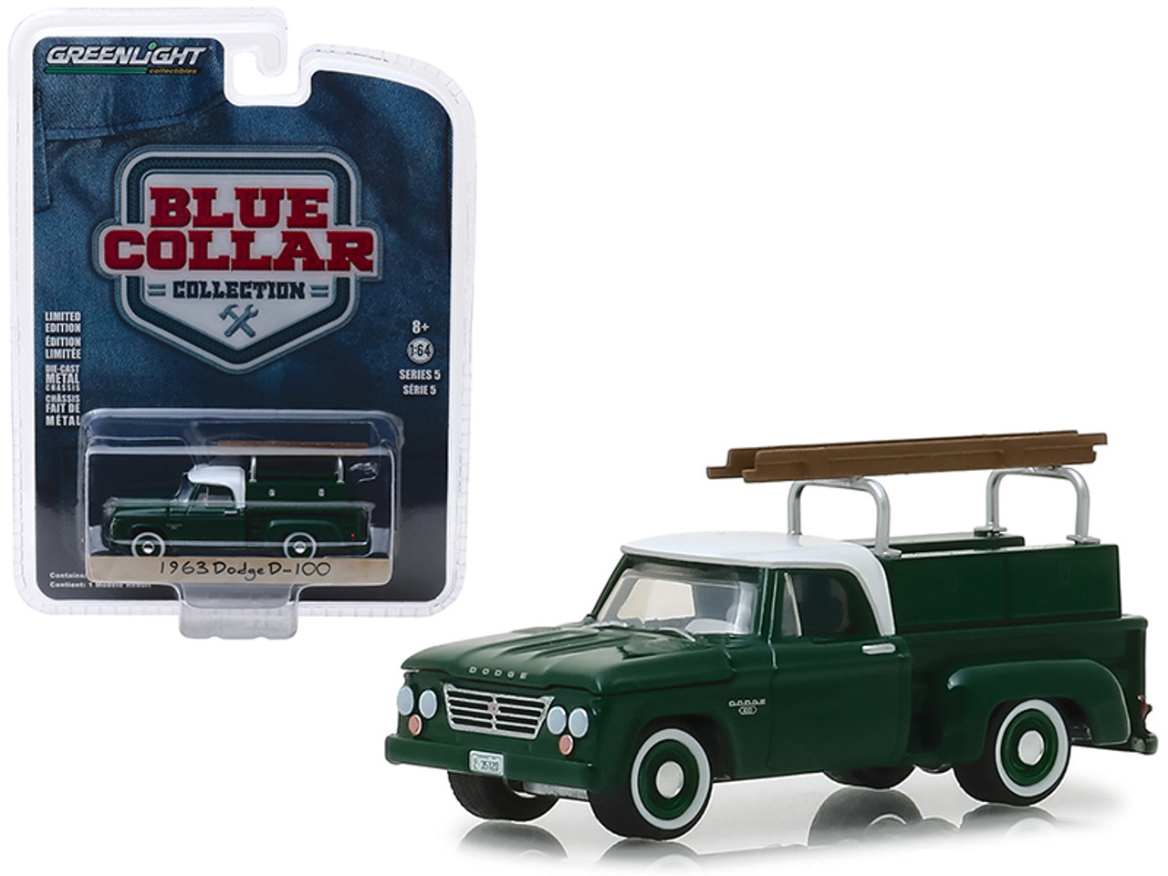 1963 Dodge D-100 With Toolbox Pickup Truck Country Roads Series 14 1//64 Model