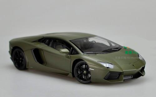 1/18 Welly FX Lamborghini Aventador LP700-4 (Dark Green) Diecast Car Model