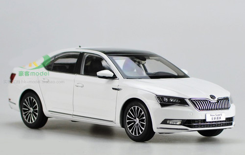 1/18 Dealer Edition Skoda New Superb (White) Diecast Car Model