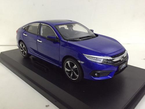 1/18 Dealer Edition Honda Civic (Blue) 10th Generation (2016–present) Diecast Car Model