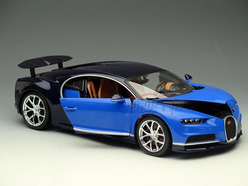 1/18 BBurago Bugatti Chiron (Blue) Diecast Car Model