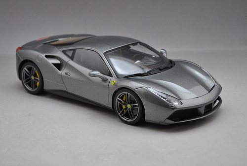 1/18 BBurago Signature Ferrari 488 GTB 488GTB (Grey) Diecast Car Model