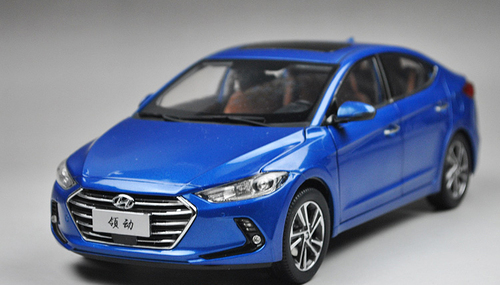 1/18 All New Dealer Edition 2017 Hyundai Elantra (Blue)