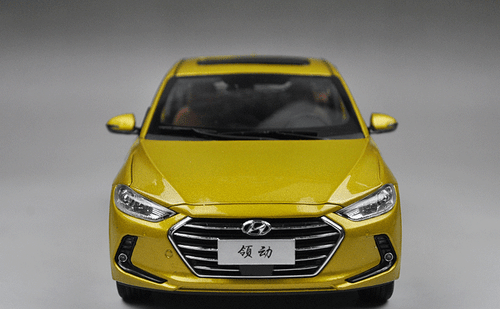 1/18 All New Dealer Edition 2017 Hyundai Elantra (Yellow)