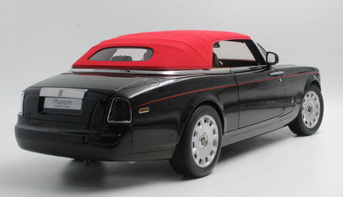 1/12 Kyosho Rolls-Royce Phantom Drophead Coupe (Black) w/ Lights Diecast Car Model