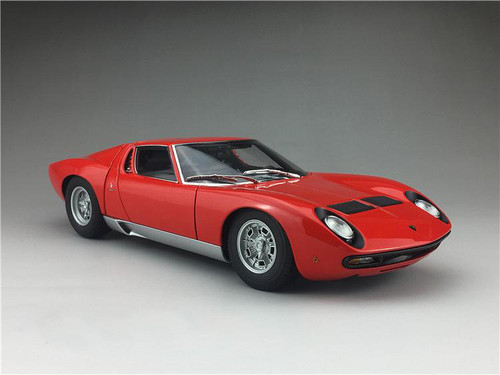 1/18 AUTOart Lamborghini Miura SV (Red w/ Silver Rims) Diecast Car Model 74543