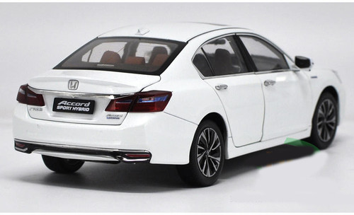 1/18 Dealer Edition Honda Accord Hybrid (White) 9th generation (2013-2017) Diecast Car Model