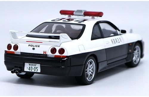 1/18 Autoart Nissan GTR GT-R R33 Police Car Diecast Car Model 77327