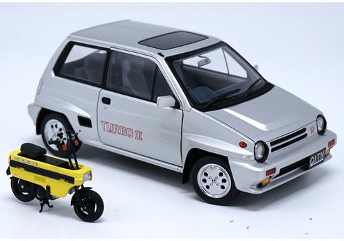 1/18 Autoart Honda City Turbo II w/ Motorcompo