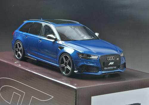 1/18 GTSpirit Audi RS6 ABT Avant C7 (Blue) Resin Model Limited 504 Units