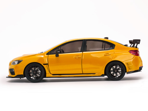 1/18 Sunstar Subaru WRX STI S207 (Yellow) Diecast Car Model