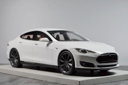 1/18 LS Collectibles Tesla Model S P100D (White) Car Model