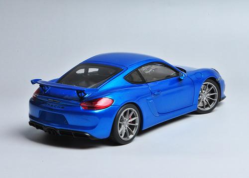 1/18 Schuco Porsche Cayman GT4 (Blue)