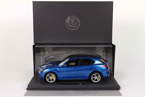 1/18 BBR Alfa Romeo Stelvio Quadrifoglio (Blue) Limited Resin Car Model