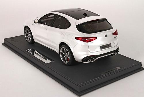 1/18 BBR Alfa Romeo Stelvio Quadrifoglio (White) Limited Resin Car Model