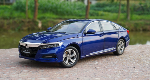 1/18 Dealer Edition Honda Accord (Blue) 10th Generation (2018-present) Diecast Car Model