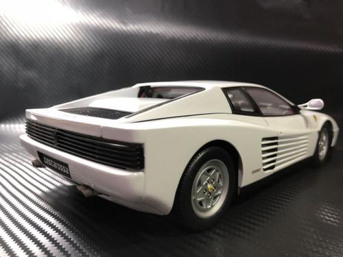 Ultra RARE CUSTOM PAINTED 1/18 Kyosho 1989 Ferrari Testarossa (White)