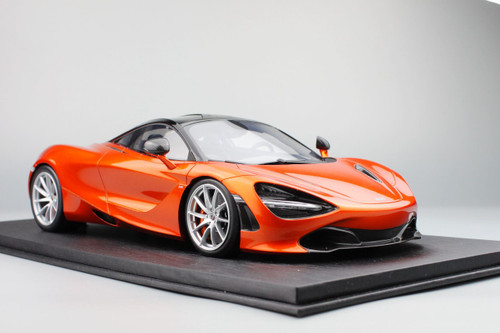 1/18 TSM Top Speed TopSpeed Mclaren 720S (Azores Orange) Resin Model (foam box only with display base)
