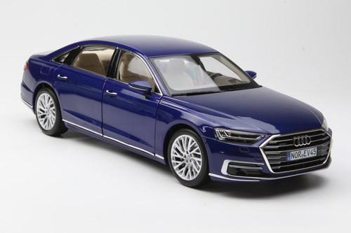 1/18 Norev 2017 Audi A8 A8L (Blue)