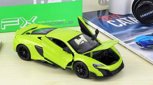 1/24 Welly Mclaren 675LT (Green) Diecast Car Model