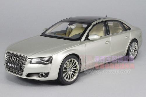 1/18 Kyosho Audi A8 L A8L W12 (Silver) Diecast Car Model