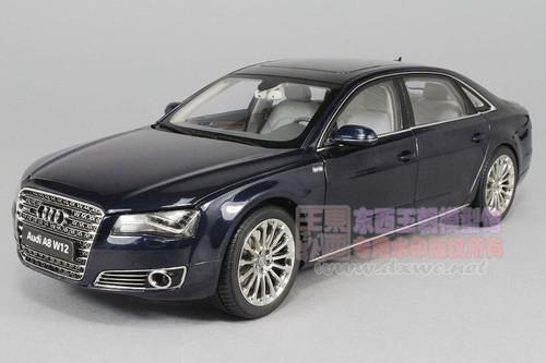1/18 Kyosho 2010  Audi A8 L W12 D4 (Night Blue) Diecast Car Model