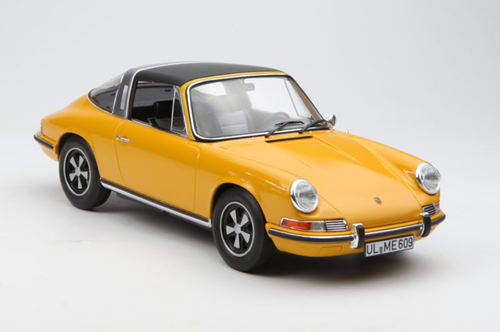 1/18 Norev 1969 Porsche 911E 911 E Targa (Orange) Diecast Model