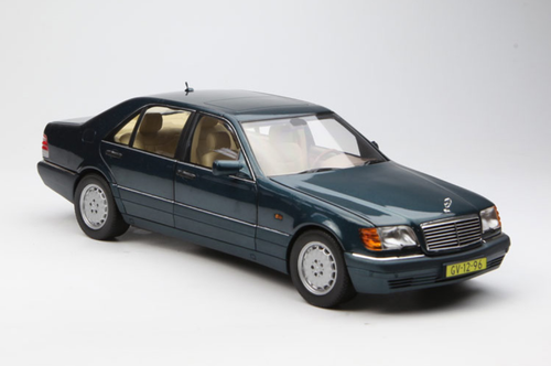 1/18 Norev 1997 Mercedes-Benz MB S-Class S600 (Green) Diecast Model