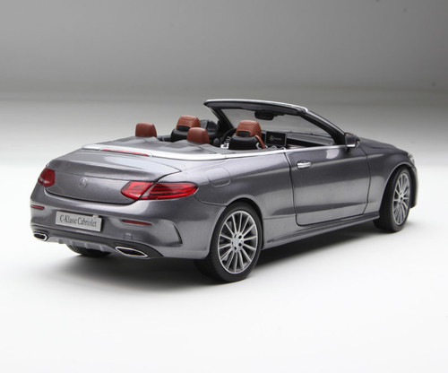 1/18 Dealer Edition Mercedes-Benz C-Class Coupe C-Klasse Cabriolet (Grey) Diecast Model