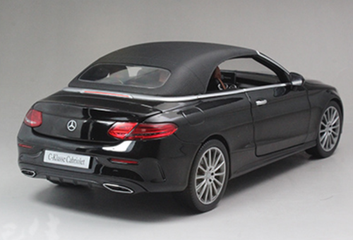 1/18 Dealer Edition Mercedes-Benz C-Class Coupe C-Klasse Cabriolet (Black) Diecast Model