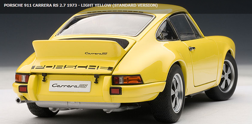 1/18 AUTOART PORSCHE 911 CARRERA RS 2.7 1973 - LIGHT YELLOW (STANDARD VERSION) Diecast Model 78056