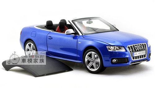 1/18 Norev Audi S5 Convertible (Blue) Diecast Car Model