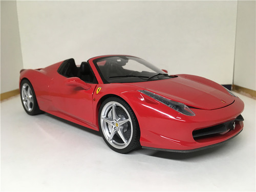 1/18 Hot Wheels Hotwheels Elite Ferrari 458 Italia Spider (Red) Diecast Model