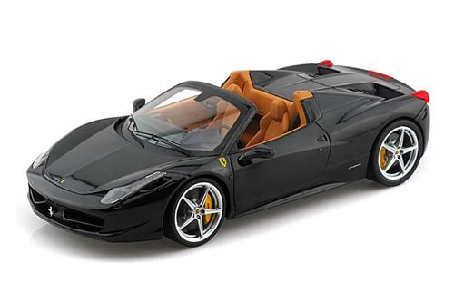 1/18 Hot Wheels Hotwheels Elite Ferrari 458 Italia Spider (Black) Diecast Model
