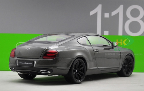 1/18 Welly FX Bentley Continental GT Supersports (Grey) Diecast Car Model