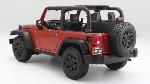1/18 Maisto Jeep Wrangler (Orange) Diecast Model