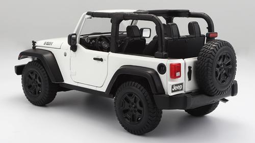 1/18 Maisto Jeep Wrangler (White) Diecast Model