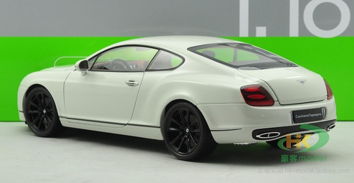 1/18 Welly FX Bentley Continental GT Supersports (White) Diecast Car Model