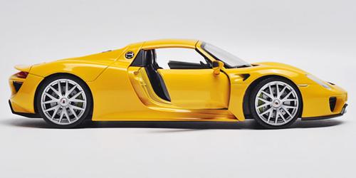 1/24 Welly FX Porsche 918 (Yellow) Diecast Model