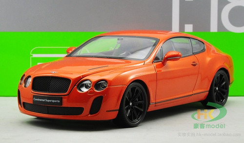 1/18 Welly FX Bentley Continental GT Supersports (Orange) Diecast Car Model