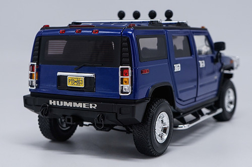 1/18 Highway 61 Highway61 Hummer H2 (Blue) Diecast Model