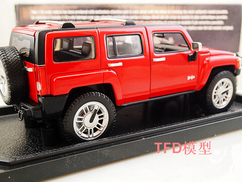 1/18 Hot Wheels Hotwheels Hummer H3 (Red) Diecast Model
