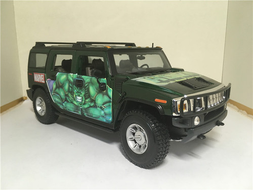 1/18 Maisto Hummer H2 Marvel Hulk Edition Diecast Model