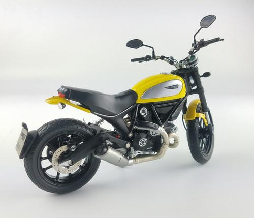 1/12 TSM Ducati Scrambler Classic 803cc (Yellow) Diecast Model